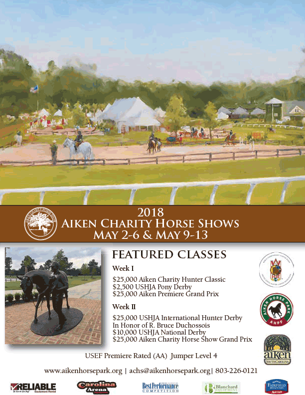 2018 Aiken Charity Horse Shows.
